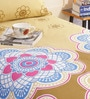 Salona Bichona Brown Poly Cotton Single Size BedSheet - Set of 2