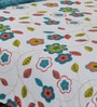 Multicolour Cotton Single Bed Sheet Set (With Pillow Cover) by Salona Bichona