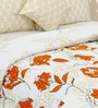 Yellow Cotton Floral King Bed Sheet Set (with Pillow Covers) by Salona Bichona