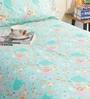 Green 100% Cotton Single Size Bedsheet - Set of 2 by Salona Bichona