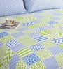 Green Double Bed Sheet Set by Salona Bichona