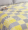 Grey 100% Cotton Queen Size Bedsheet - Set of 3 by Salona Bichona