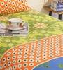 Salona Bichona Multicolour 100% Cotton Single Size Bedsheet - Set of 2
