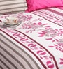 Salona Bichona Pink 100% Cotton Queen Size Bedsheet - Set of 3