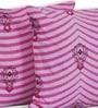 Salona Bichona Pink Cotton 16 x 16 Inch Cushion Covers - Set of 5