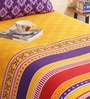 Multicolour Cotton Single Size Bed Sheet Set of 2 by Salona Bichona