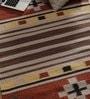 Samara Carpets Multicolour Cotton & Wool Abstract Pattern Carpet
