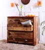 Polson Chest of Five Drawers in Natural Sheesham Wood Finish by Woodsworth