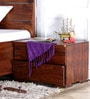 Oakville Bed Side Table in Provincial Teak Finish by Woodsworth