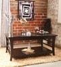 Toston Slatted Coffee Table in Espresso Walnut Finish by Woodsworth