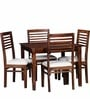 Winona Ivy Four Seater Dining Set in Provincial Teak Finish by Woodsworth