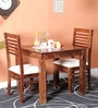 Winona Ivy Two Seater Dining Set in Provincial Teak Finish by Woodsworth