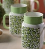 Sanjeev Kapoor Green Apple Bone China 550 ML Mason Mug - Set of 4