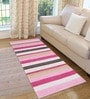 Saral Home Blue & Pink Cotton 72 x 28 Inch Premium Quality Multi Purpose Rug - Set of 2