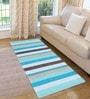 Saral Home Blue Cotton 72 x 28 Inch Premium Quality Multi Purpose Rug - Set of 2