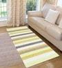 Saral Home Green Cotton 72 x 28 Inch Premium Quality Multi Purpose Rug - Set of 2