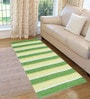 Saral Home Green Cotton 72 x 28 Inch Premium Quality Multi Purpose Rug - Set of 2