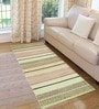 Saral Home Multicolour Cotton 72 x 28 Inch Premium Quality Multi Purpose Rug - Set of 2