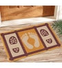 Saral Home Multicolour Jute 24 x 20 Inch Anti Slip Jute Door Mat - Set of 3