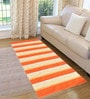 Saral Home Orange & Purple Cotton 72 x 28 Inch Premium Quality Multi Purpose Rug - Set of 2
