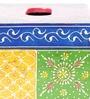 Satyam International Multicolour Solid Wood Painted Vintage Jodhpuri Tissue Box
