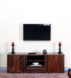 Segur Large Entertainment Unit In Provincial Teak Finish