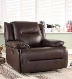 Semana One Seater Manual Recliner in Brown Colour & Recliner Sofas - Buy Recliners Online in India - Exclusive Designs ... islam-shia.org