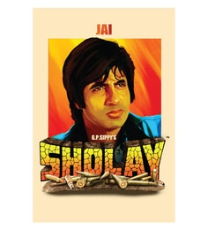 Seven Rays Paper 12 X 18 Inch Sholay Jai Unframed Bollywood Poster