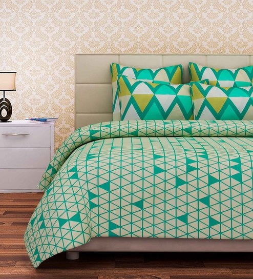 Abstract Pattern Cotton King Size Bed Sheet