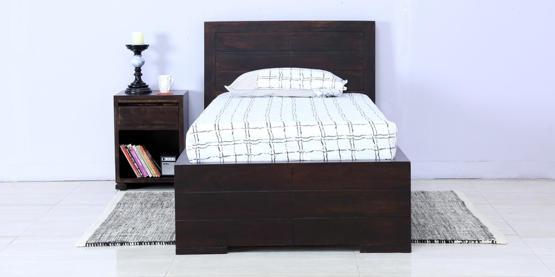 Segur Solidwood Single Bed in Warm Chestnut Finish by Woodsworth