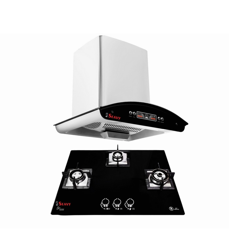 Seavy Pie Dlx 60 Cm Hood Chimney & 3 Burners Hob