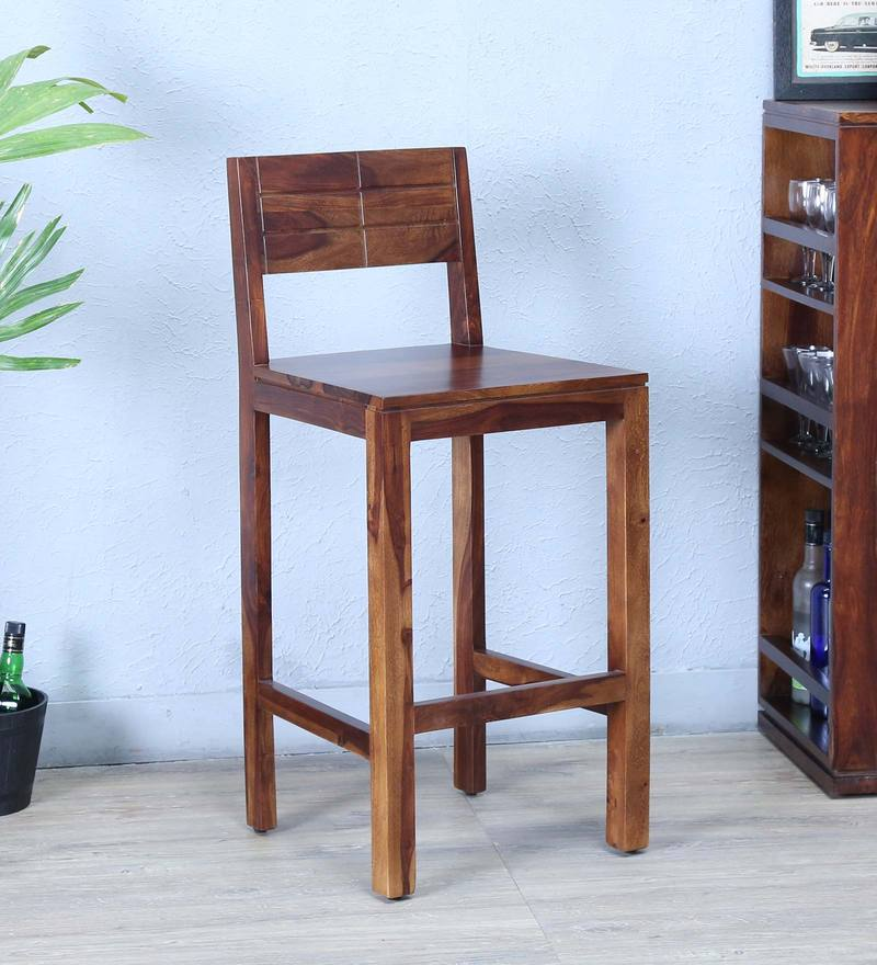 Segur Bar Chair in Provincial Teak Finish by Woodsworth