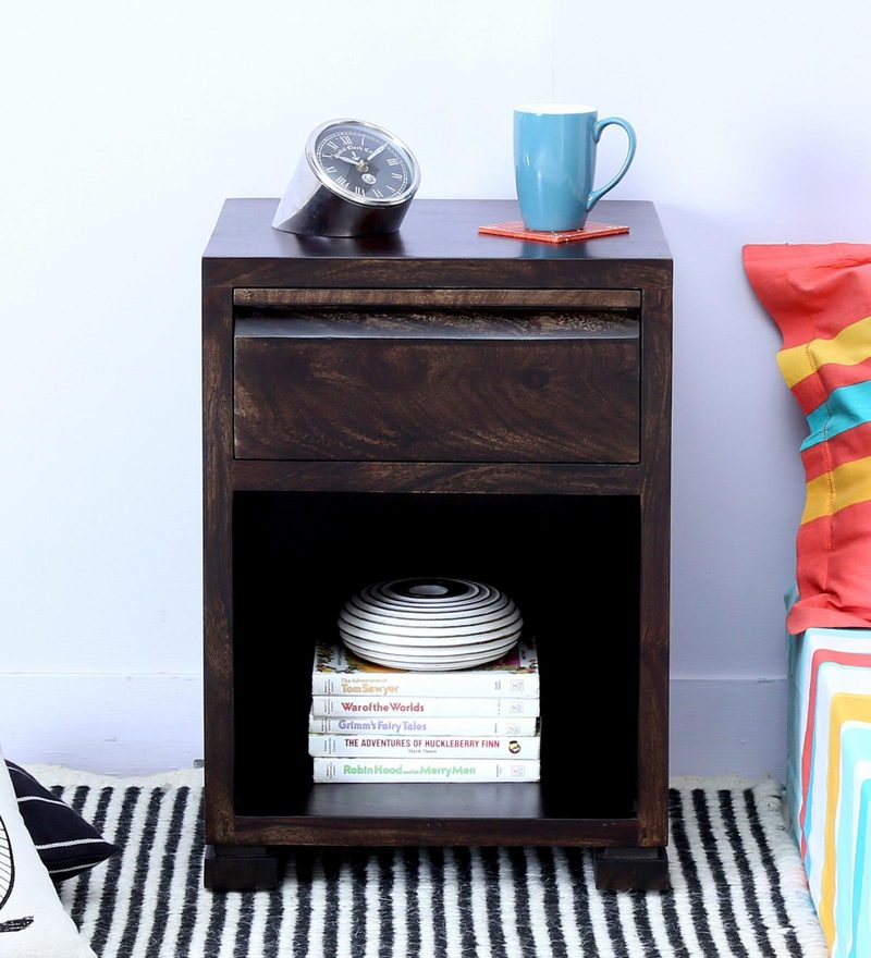 Segur Bed Side Table in Warm Chestnut Finish by Woodsworth