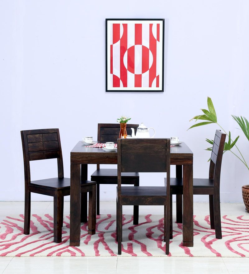Segur Four Seater Dining Set in Warm Chestnut Finish by Woodsworth