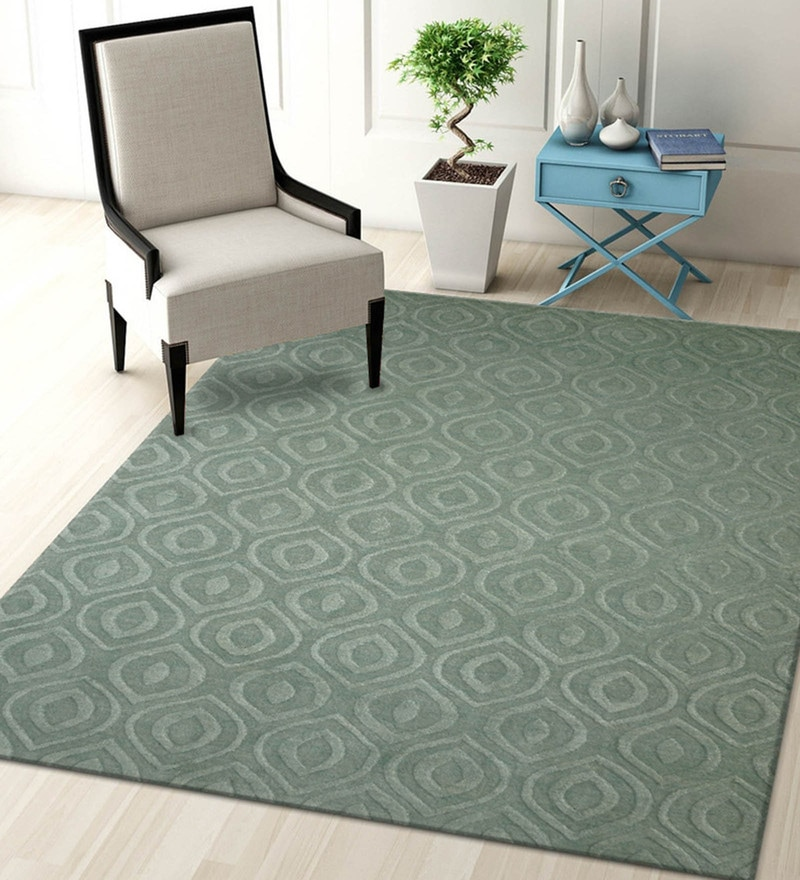 Seige Blended Wool 60 x 96 Inch Trendz Design High Low Texture Hand Carving Tufted Carpet by Designs View