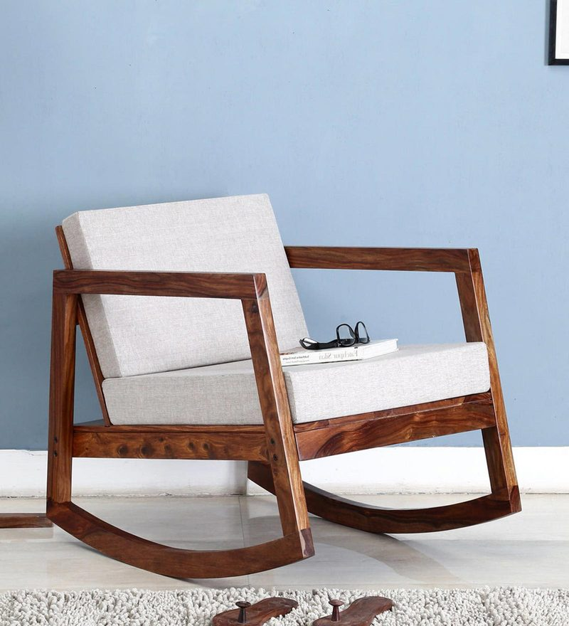 Sequim Rocking Chair in Warm Walnut Finish by Woodsworth