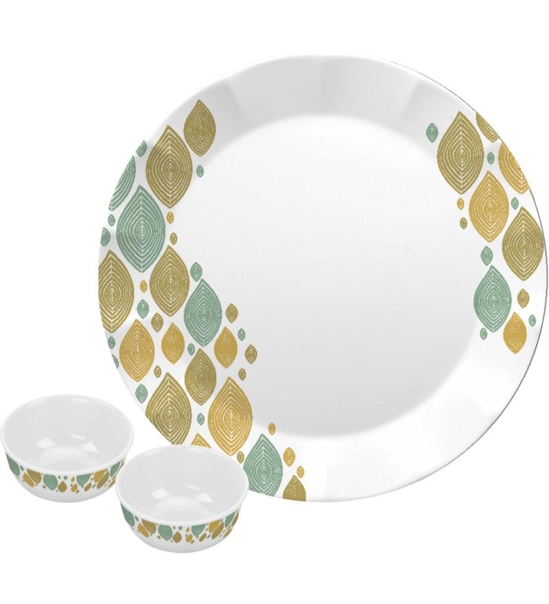 Dora Hazel Melamine Dinner Set - Set of 18 by Servewell
