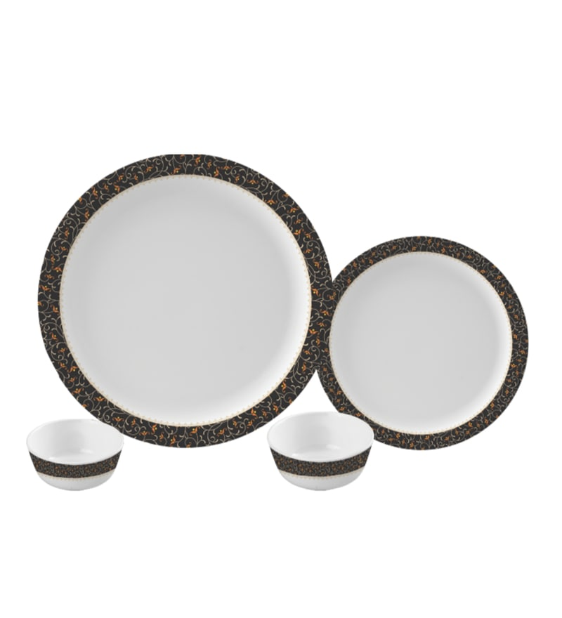 Ornate Melamine Round Dinner Set - Set of 24 by Servewell