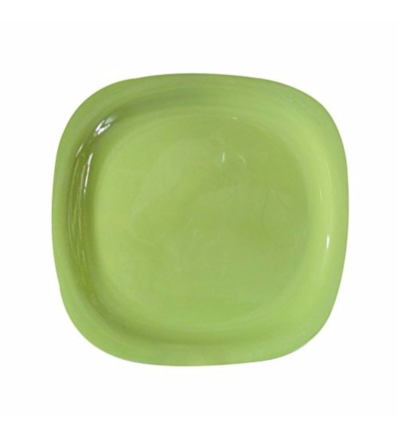 Servewell Round Green Melamine Side Plates - Set of 6