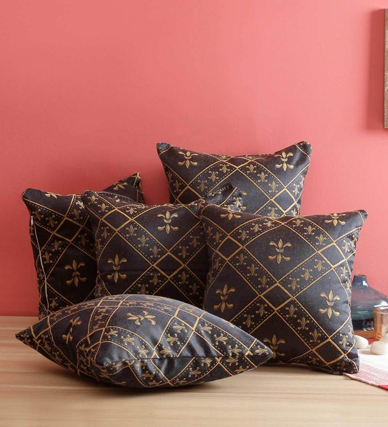 Vintage Kantha Decorative throw Pillow Set Of 5 Pillow Cover Kantha Pillow