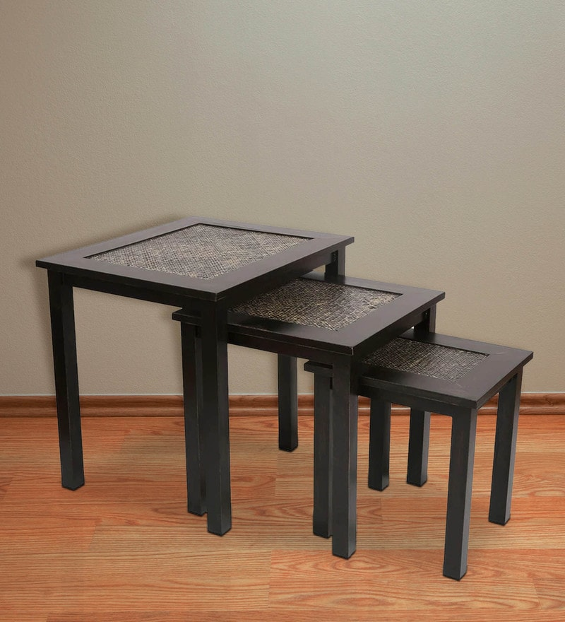 Set of Tables in Black Finish by ClasiCraft