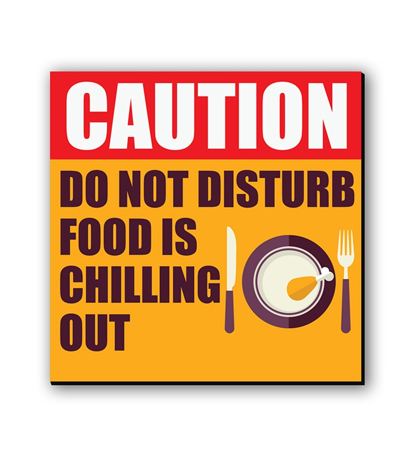 Multicolour Fibre Board Do Not Disturb Fridge Magnet by Seven Rays