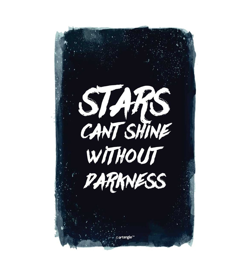 Paper 12 x 1 x 18 Inch Stars Can't Shine Without Darkness Unframed Poster by Seven Rays