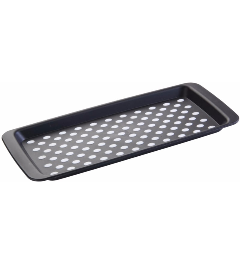 Seven Seas Rectangle Plastic Black Tray