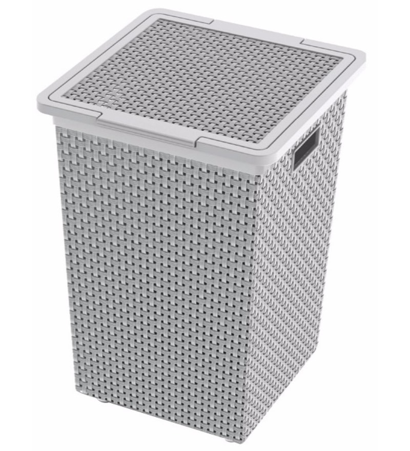 Dkw Saan Grey Laundry Basket with Lid