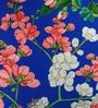 Blue Cotton 16 x 16 Inch HD Digital Premium Royal Floral Cushion Cover- 1pc by SEJ By Nisha Gupta