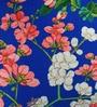Blue Cotton 16 x 16 Inch HD Digital Premium Royal Floral Cushion Covers - Set of 2 by SEJ By Nisha Gupta