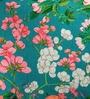 Green Cotton 16 x 16 Inch HD Digital Premium Floral Cushion Covers - Set of 5 by SEJ By Nisha Gupta