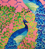 Sej by Nisha Gupta Multicolor Cotton 16 x 16 Inch HD Digital Premium Peacocks Cushion Cover - 1pc