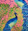 Multicolor Cotton 16 x 16 Inch HD Digital Premium Peacocks Cushion Covers - Set of 5 by SEJ By Nisha Gupta